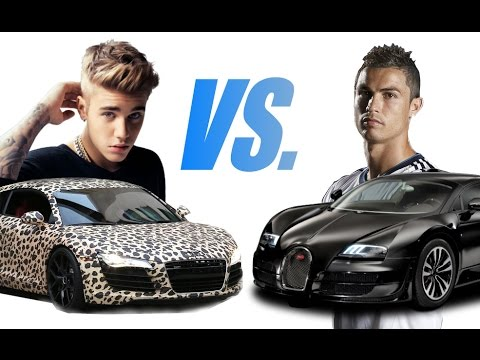 Justin Bieber vs. Cristiano Ronaldo Cars Collection