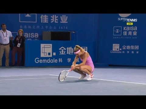 Camila Giorgi totally exhausted after win over Zheng collapses on the bench