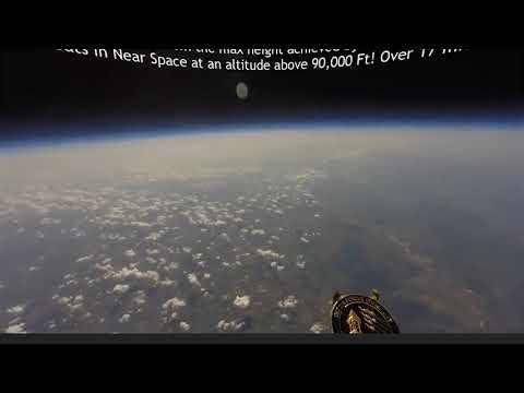 Balloon near Space with  GoPro Fish-eye Lens Removed!! - Flat Earth? Globe? thumbnail