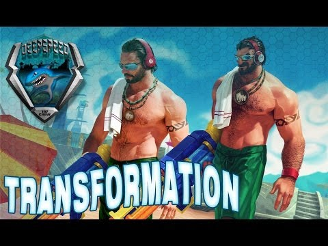 Hugh Jackman transformation into 'Pool Party Graves' League of Legends