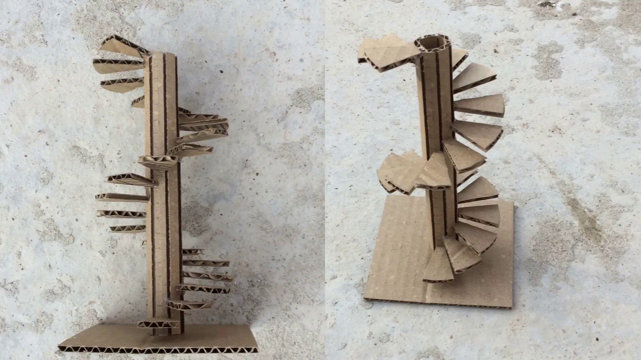 Making A Spiral Stairs Model / Out Of Cardboard/ Easy Way