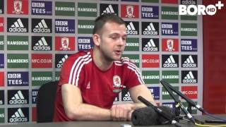Jordan Rhodes' first press conference as a Boro player