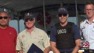 Bike ferry crew recognized by Coast Guard for heroic rescue