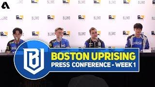 Boston Uprising Press Conference | Overwatch League Season 2 Stage 1 Week 1