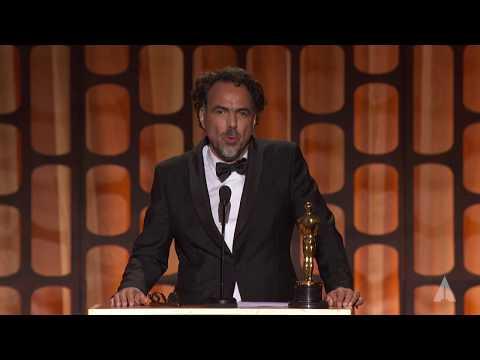 Alejandro González Iñárritu Accepts a Special Oscar for Carne Y Arena