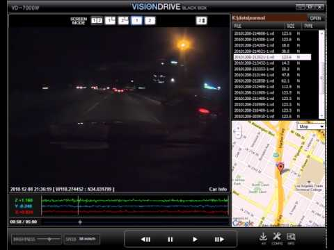 Vision Drive Car Black Box VD-7000 Night Driving.avi