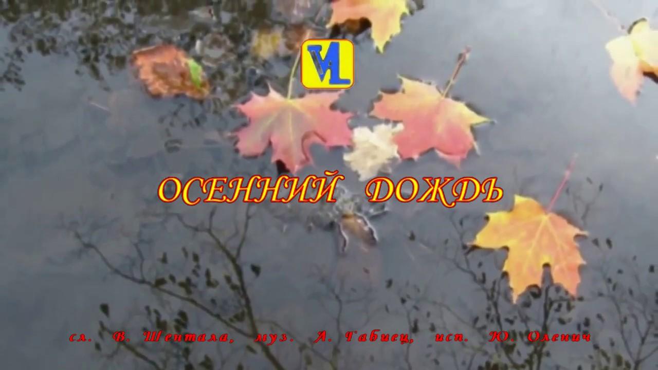 Осенний дождь, сл. В. Шентала, муз. А. Габиец, исп. Ю. Оленич