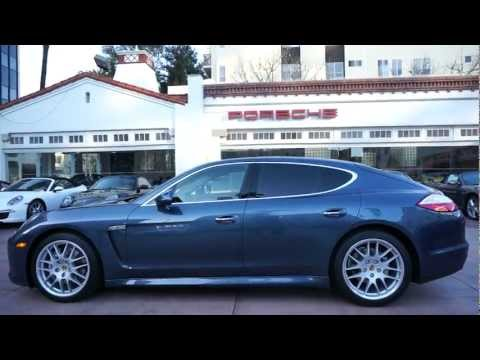 Panamera S Yachting Blue with Mahogany wood trim Beverly