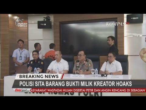 Konpers Polisi Tangkap Penyebaran Hoaks Surat Suara Tercoblos - BREAKINGNEWS Mp3