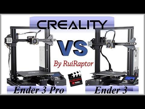Creality Ender 3 VS Ender 3 PRO - All The Details PT subtitles