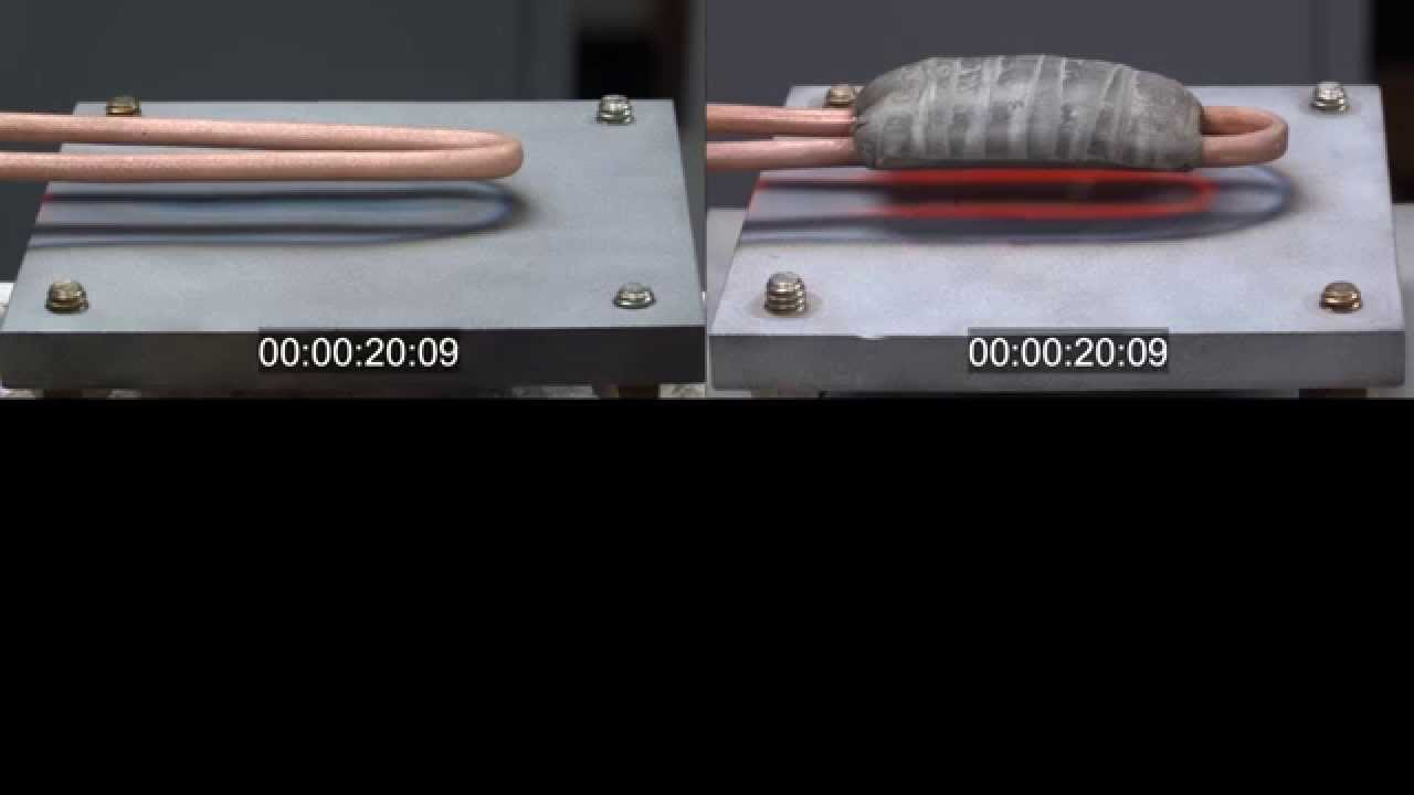 Hairpin Induction Heating Coil Demonstration Youtube Igbt Heater Circuit Also Water Element