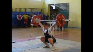 Тяжёлая атлетика Шутилов Иван, 13 лет вк 69 Рывок 80 кг