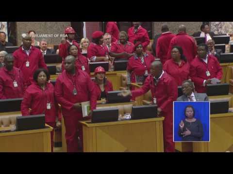 Malema leads EFF walkout from Parliament, calls Zuma a criminal