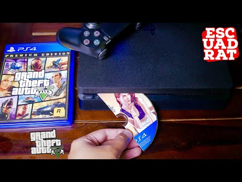 What Happens When ? Inserting Break Game Disc GTA 5 Premium Edition To PS4? (English)