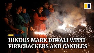 Hindus Across India Celebrate Diwali Festival Of Lights With Firecrackers And Candles