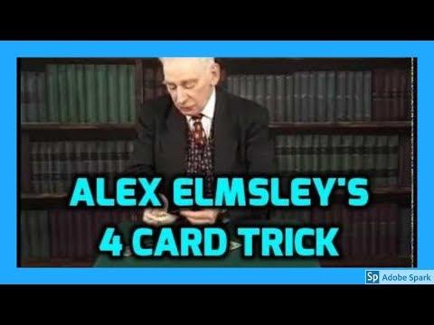MAGIC TRICKS VIDEOS IN TAMIL #276 I ALEX ELMSLEY'S 4 CARD TRICK @Magic Vijay