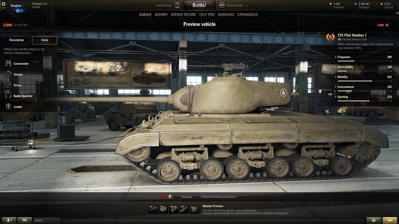 WoT T25 Pilot Number 1 | new American premium medium tank
