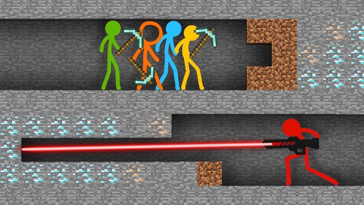 Stickman vs Minecraft AVM Shorts 19 Alan Becker Animation vs. Minecraft Shorts STICK FIGURE