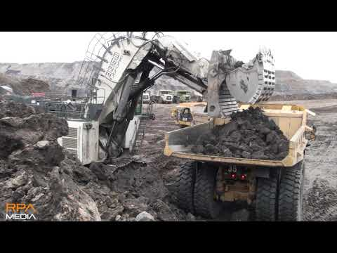 *HUGE* Liebherr R9350 Mining Shovel Working In A Scottish Opencast Coal Mine