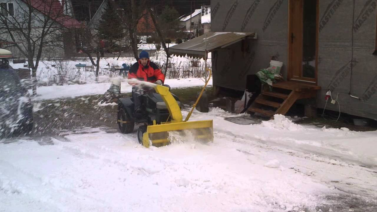 Homemade Single Stage Snowblower First Test Youtube