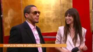 Charlotte Gainsbourg et Joey Starr interviewés backstage au Cesar 2013