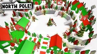 I MADE NORTH POLE ON BLOXBURG! (Roblox Bloxburg) Roblox Roleplay