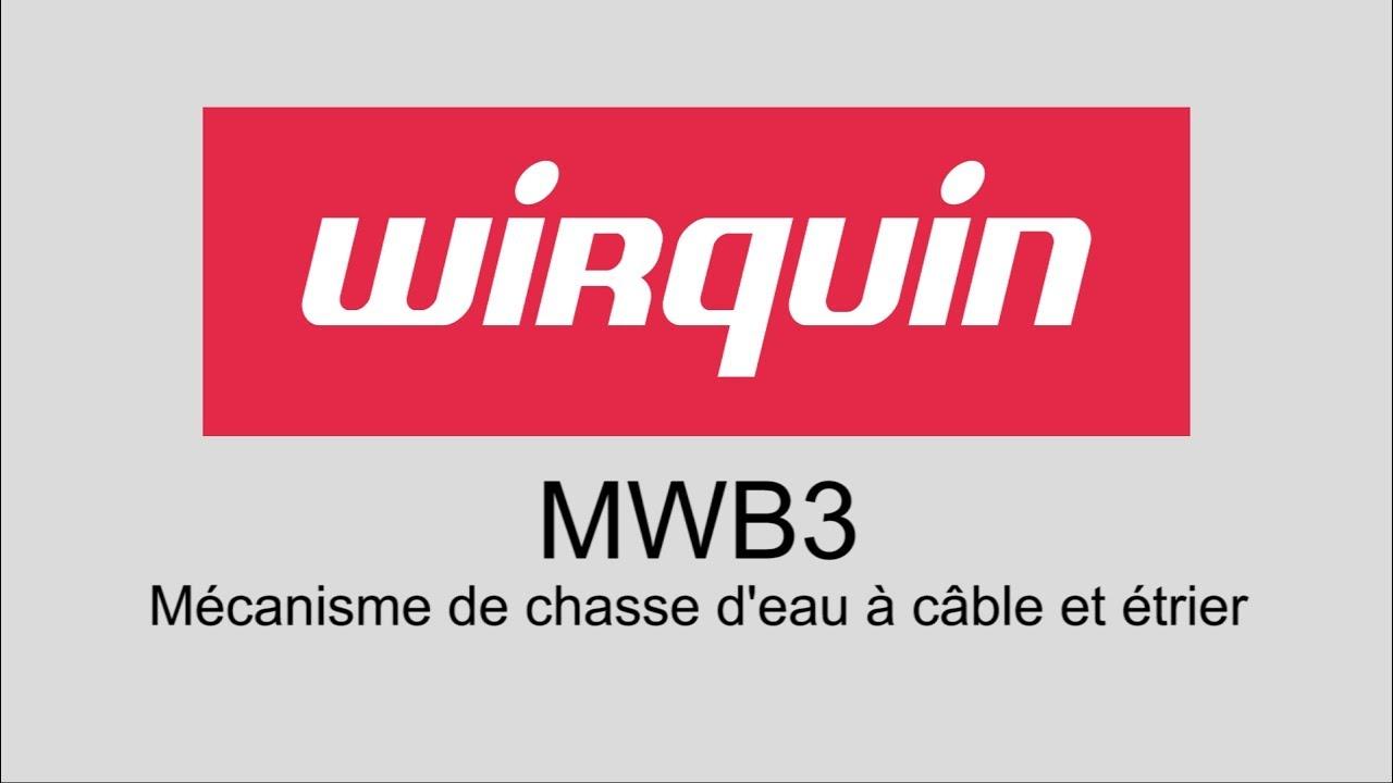 Installation Du Mécanisme De Chasse Deau à Câble Et à étrier Mwb3