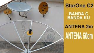 Antena telada com LNB universal ku