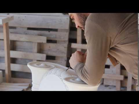 Η τέχνη της μαρμαρογλυπτικής  / Greek marble sculpting / Carving stone / carving marble