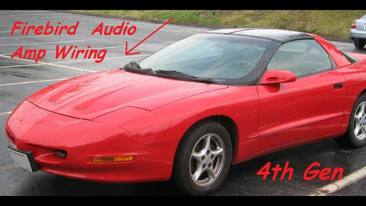 1998 firebird stereo install with amp and sub