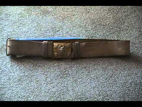 Boer War Military belt Victorian Canadian Militia Officer 48th Highlanders Crimea Fenian Raid