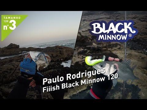 Paulo Rodrigues - Black Minnow 120 Barracuda Tour com cabeçotes Offshore 25g e Deep 37g