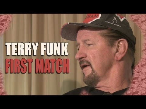 Terry Funk - First Match Ever & Spills the Dip Juice