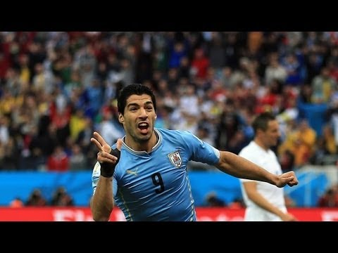 Luis Suarez Goal vs England - The Goal That Ended England's World Cup!