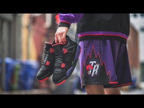 "Air Jordan 4 Retro NRG ""Toronto Raptors"" (Drake): Review & On-Feet"