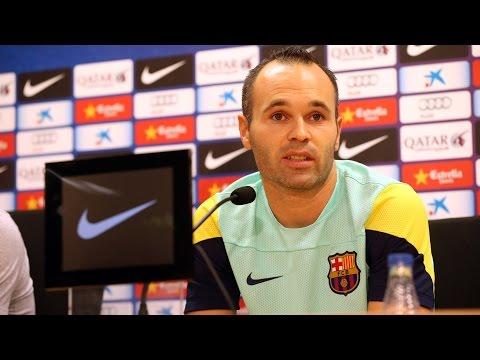 Andrés Iniesta press conference 25/07/2014