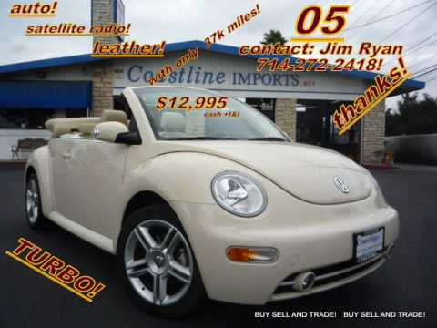 (SOLD!)TURBO! 2005 Volkswagen New Beetle CONVERTIBLE 20 V TURBO, FOR SALE ((((SOLD))))