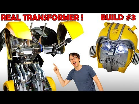 Building Bumblebee the REAL TRANSFORMER #3 | James Bruton