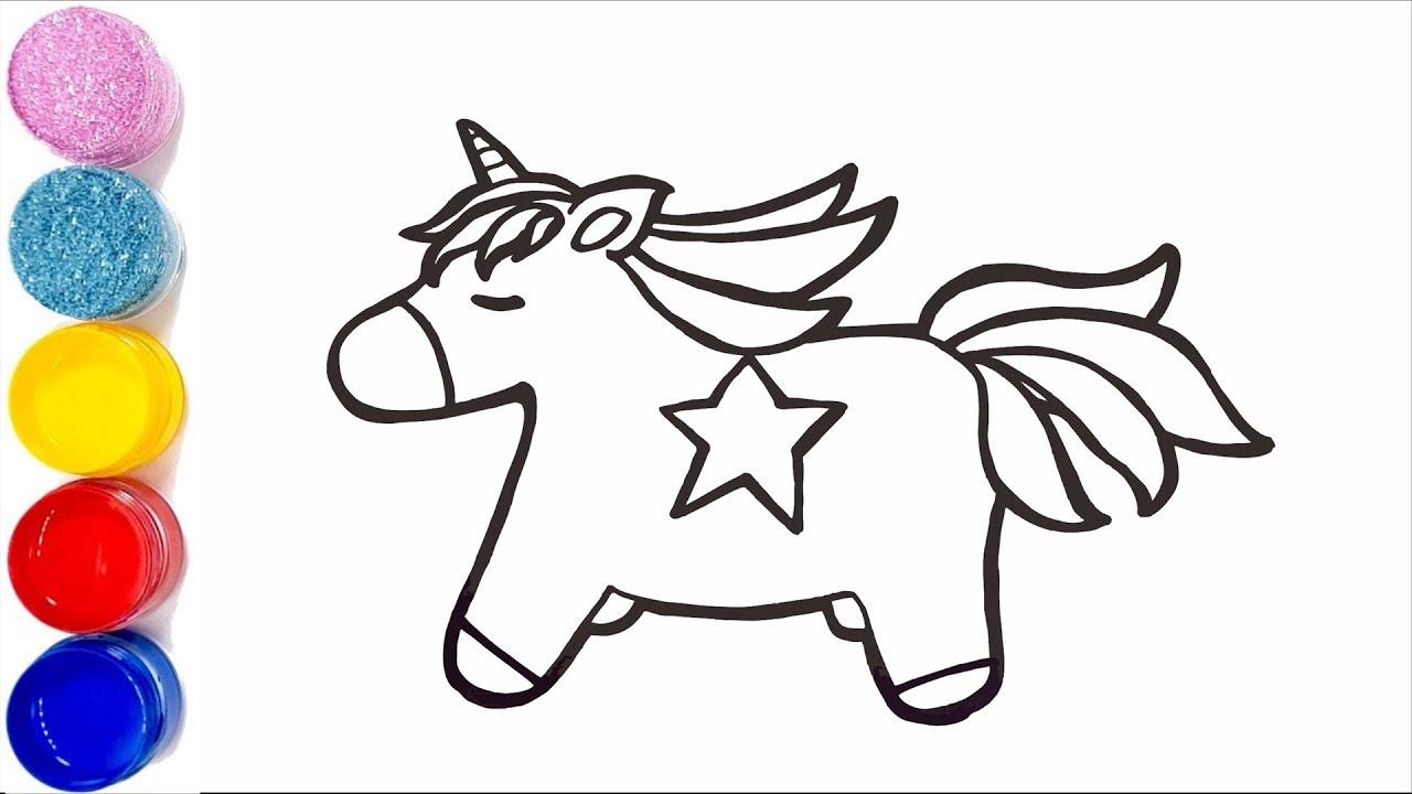 Coloriage Bebe Animau.Comment Dessiner Un Licorne Pour Bebe Coloriage Animal Pour Les Enfants
