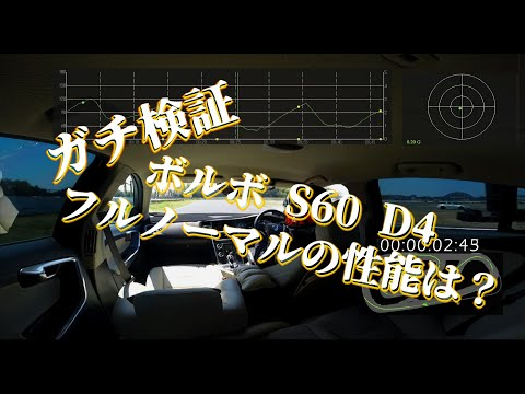 ガチ検証!ボルボ S60 D4(MY2016) フルノーマルの性能は?!