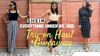 SHEIN HAUL & REVIEW + HUGE GIVEAWAY || GOOD OR BAD ??