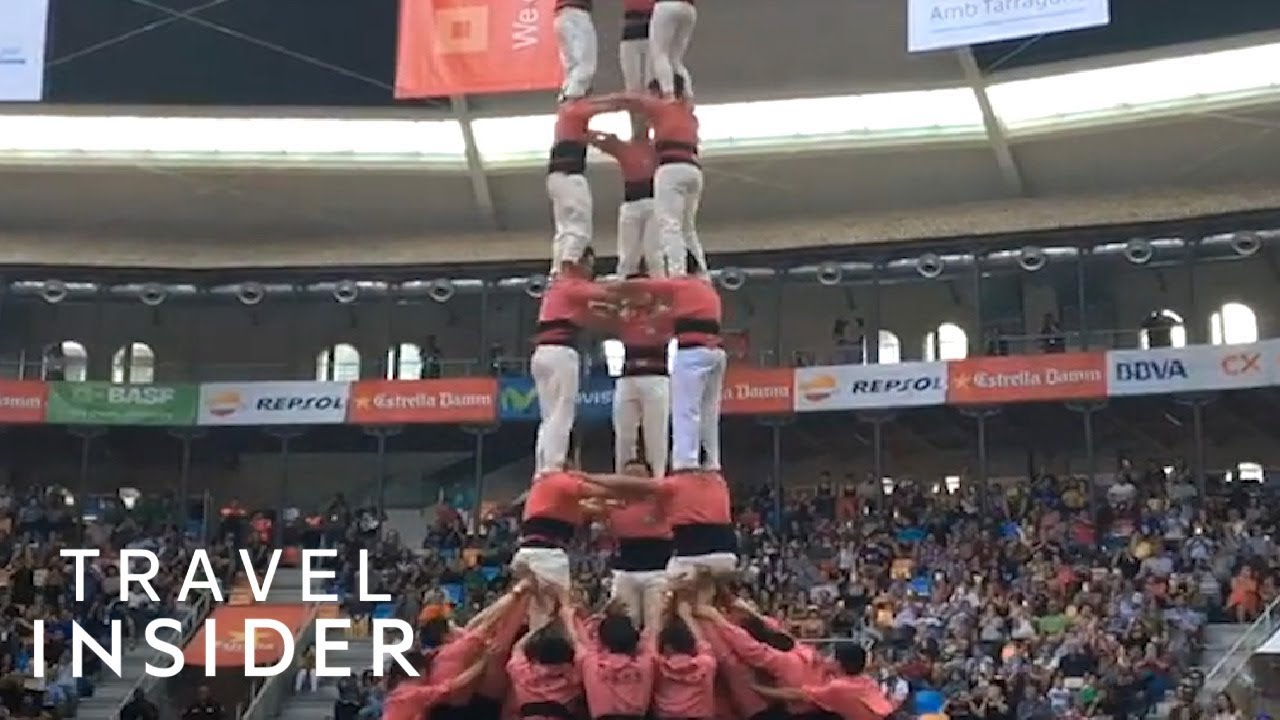 Human Tower-Building Competitions Are Traditional In Catalan