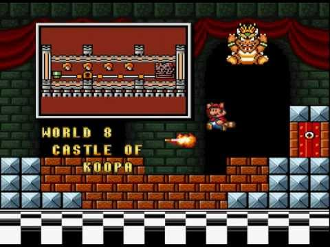 Super Mario Bros 3 Snes World 8 Bowser S Castle Ending Youtube