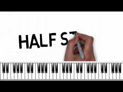 Half Steps and  Whole Steps on Your Piano (Music Theory Lesson)