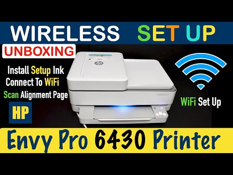 HP Envy Pro 6430 Wireless WiFi SetUp, Unboxing, Install Ink Cartridge, Scan Alignment Page, review !