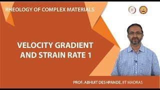 Velocity gradient and strain rate 1