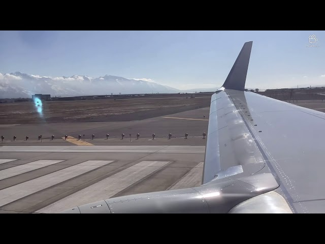 Best Mountains EVER? American Airlines 737-800 Departure From Salt Lake City