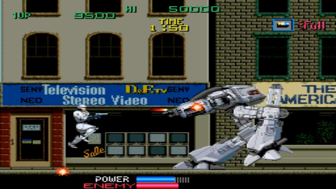 Robocop 1 Arcade Gameplay Playthrough longplay - YouTube