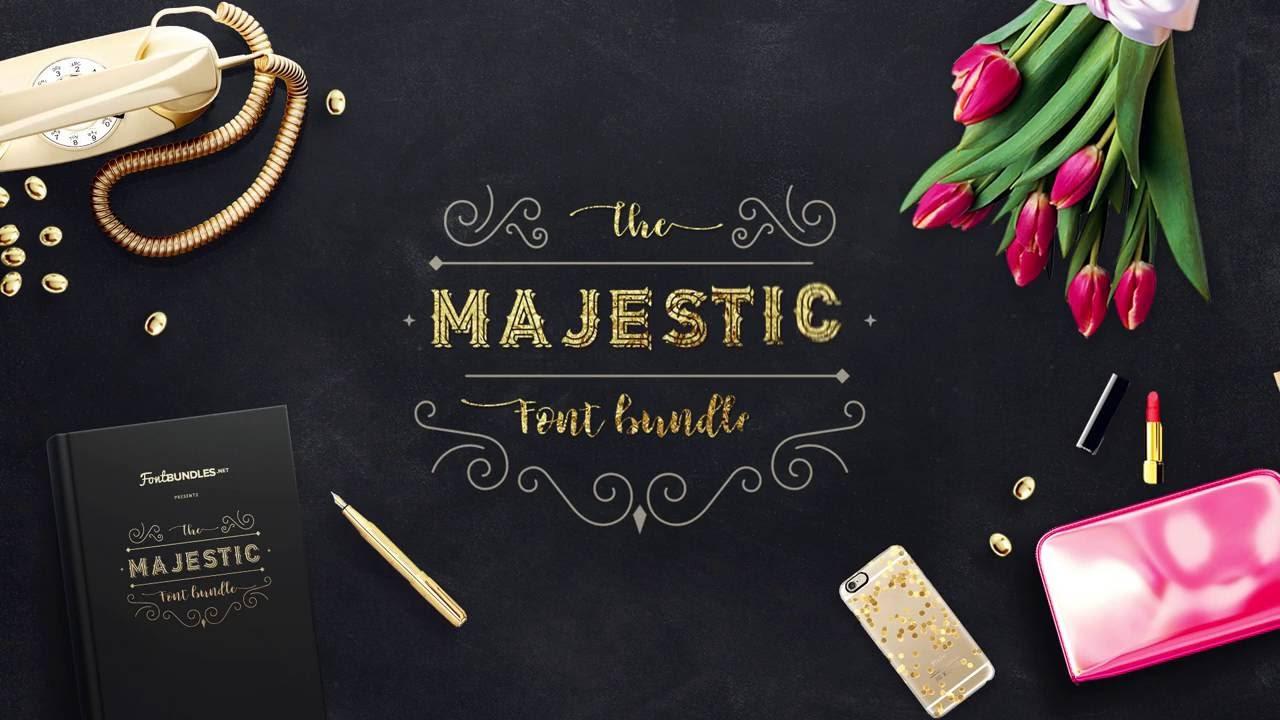 The Majestic Fonts Bundle | Font Bundles