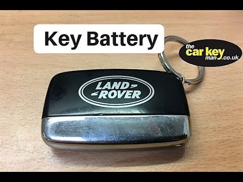 land rover key fob battery replacement
